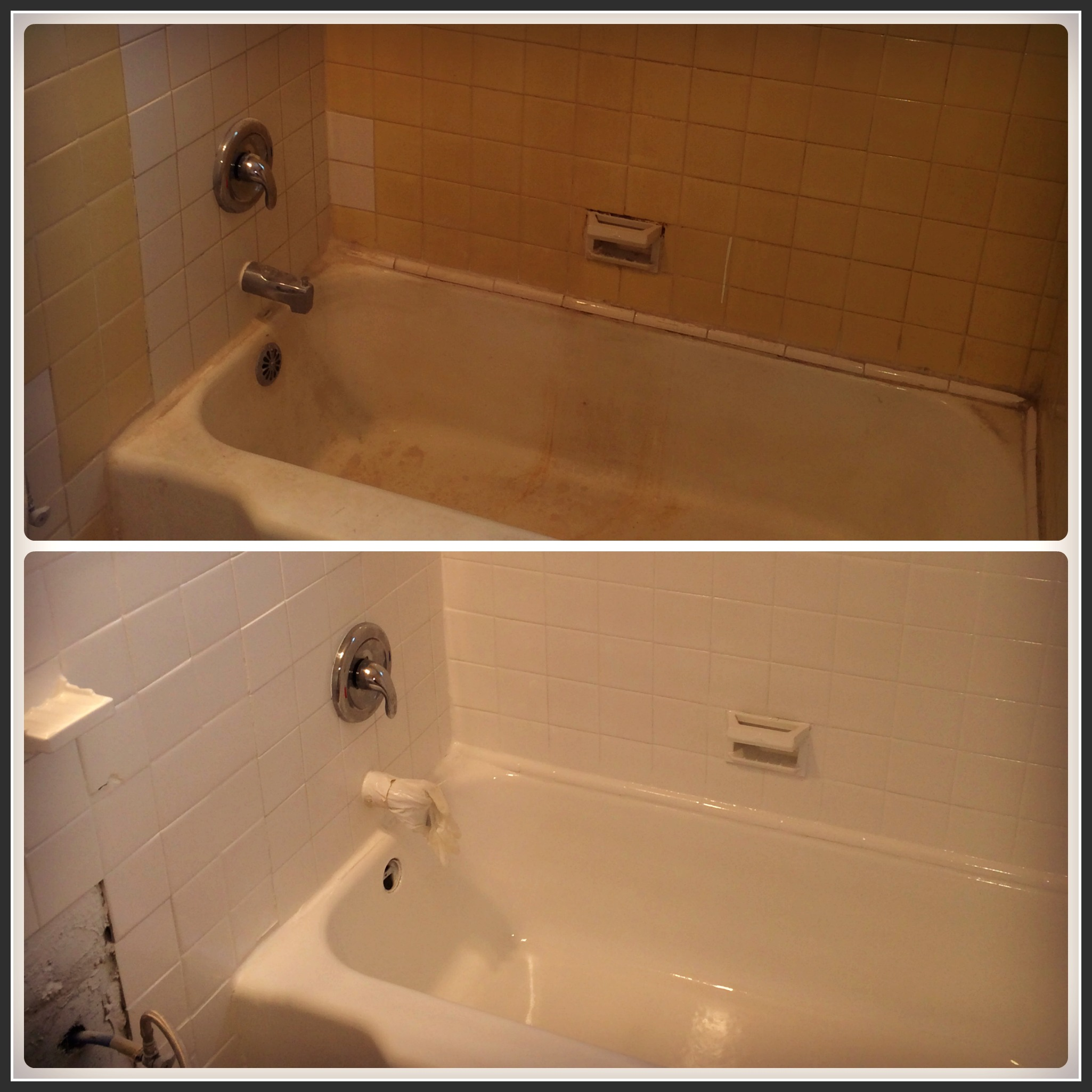 Bathtub Refinishing Cleveland 2 Before And After