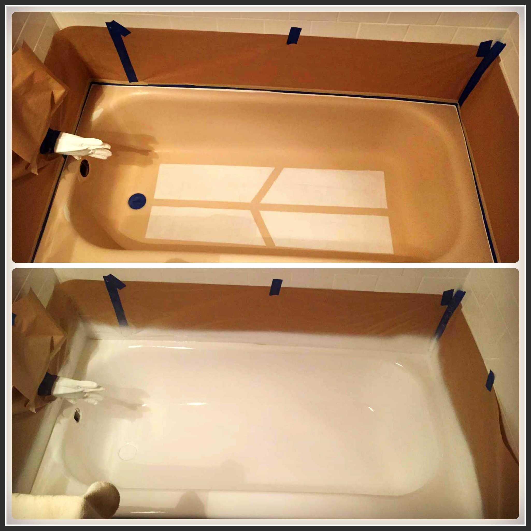 Refinished bathtub